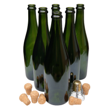 75cl Champagne / Sparkling Wine Bottles With Traditional Corks & Cages - Box Of 6