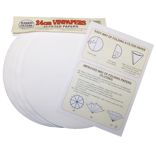 Harris Vin Papers - Wine Filter Papers - 24cm - Pack Of 25