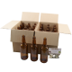 500ml Brown Glass Beer Bottles With Crown Caps - Pack of 24