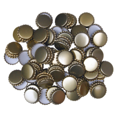 100 Gold Crown Caps - 29mm (Large) - For Champagne Bottles
