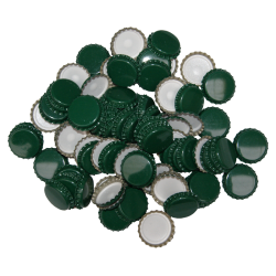 100 Green Crown Caps - 29mm (Large) - For Champagne Bottles
