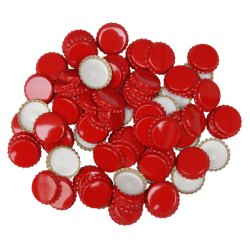 100 Red Crown Caps - 29mm (Large) - For Champagne Bottles
