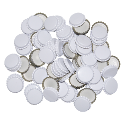 100 White Crown Caps - 29mm (Large) - For Champagne Bottles