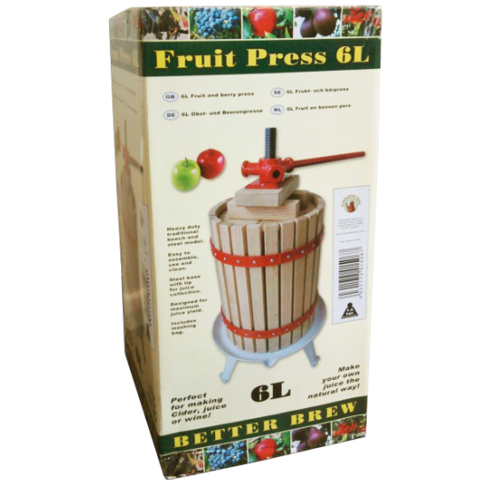 6 Litre Traditional Fruit / Cider Spindle Press