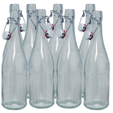 750ml Classic Style Clear Glass Swing Top Bottle - Box Of 8