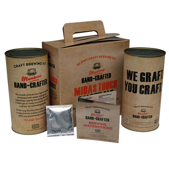 Muntons Hand Crafted Midas Touch Golden Ale - 40 Pint Kit - Refreshing Pale Ale