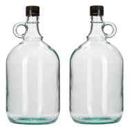 2 Litre Glass Gallone Bottle - Pack of 2