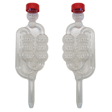 6 Chamber Bubbler Airlock With Cap - Pack of 2