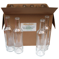 375ml Half Size Clear Wine Bottles  - Box of 12