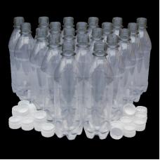 500ml PET Clear Plastic PET Bottles - Pack of 20