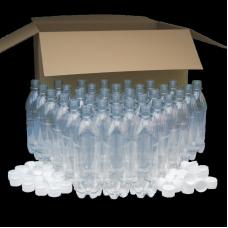 500ml PET Clear Plastic PET Bottles - Pack of 40