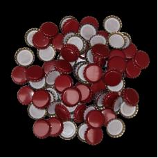 100 Burgundy Crown Caps - 26mm - For Beer Bottles