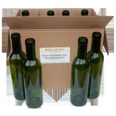 375ml Half Size Green Wine Bottles  - Box of 12