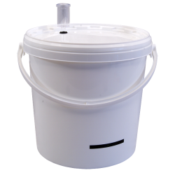 10 Litre Food Grade Plastic Bucket With Lid, Airlock and LCD Temperature Indicator