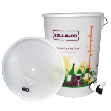 25 Litre Fermentation Bucket With Lever Tap & LCD Temperature Indicator