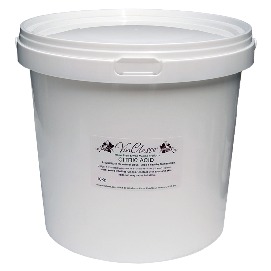 VinClasse Citric Acid - 10kg Bucket