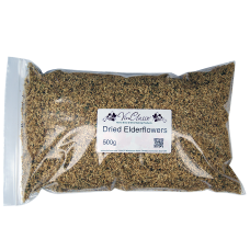 Dried Elderflowers - 500g Bag - Shelled (Without Stems)