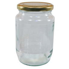 2lb / 900g Round Glass Jam Jars With Gold Lids - Pack Of 6