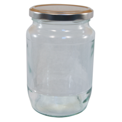 2lb / 900g Round Glass Jam Jars With Silver Lids - Pack Of 6