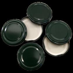 63mm Twist On Jam Jar Lids - Green - Pack Of 6