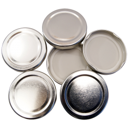 43mm Twist On Jam Jar Lids - Silver - Pack Of 6
