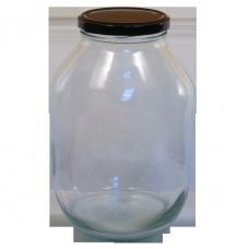 Half Gallon Pickle Jar - With Black Lid