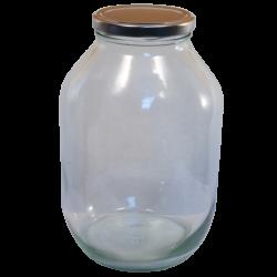 Half Gallon Pickle Jar - With Silver Lid
