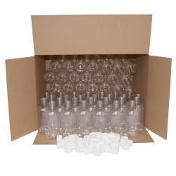 330ml Clear PET Plastic Bottles With White Caps - Pack of 70