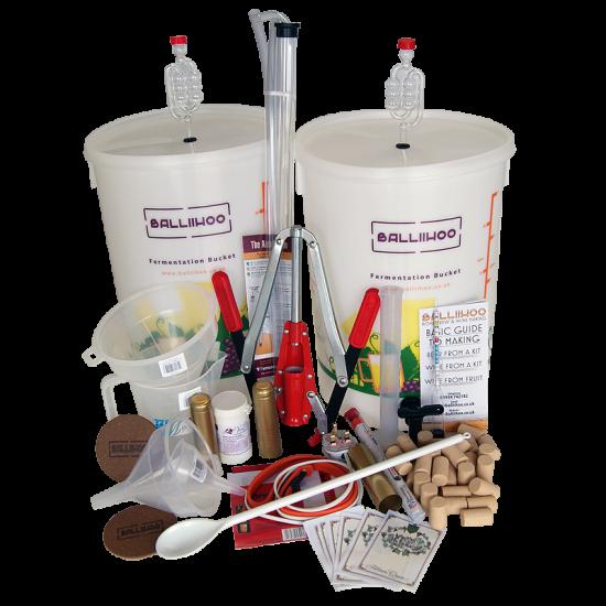 Premium Wine Making Starter Equipment Kit for 30 Bottles / 23 Litres