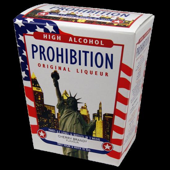 Prohibition Cherry Brandy - High Alcohol Liqueur Kit - 4.5L / 6 Bottle