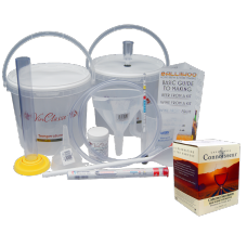 6 Bottle Wine Making Equipment Kit & Cabernet Sauvignon Ingredient Kit