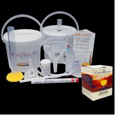 6 Bottle Wine Making Equipment Kit & Pinot Grigio Ingredient Kit