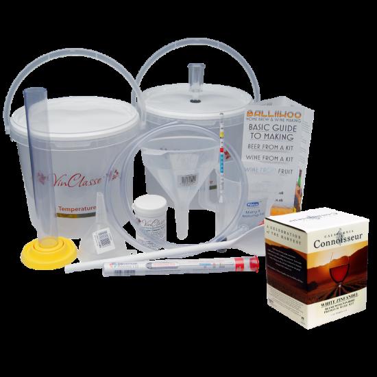 6 Bottle Wine Making Equipment Kit & White Zinfandel (Rose Style) Ingredient Kit