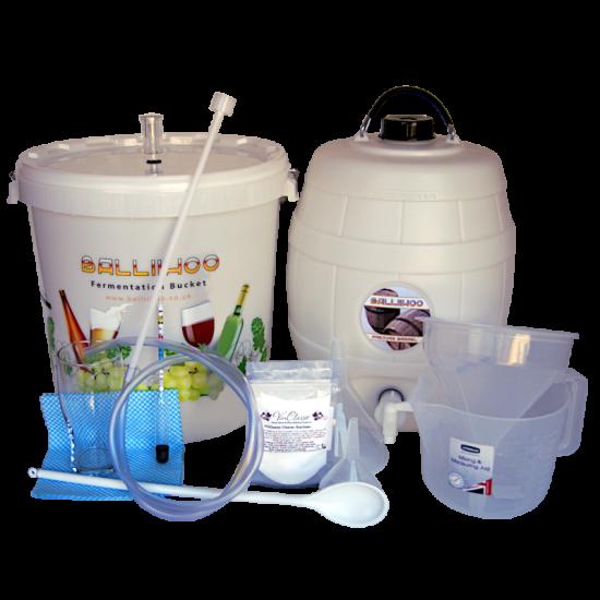 Balliihoo Complete Equipment Starter Set For Beer Kits - With Barrel - Best Seller