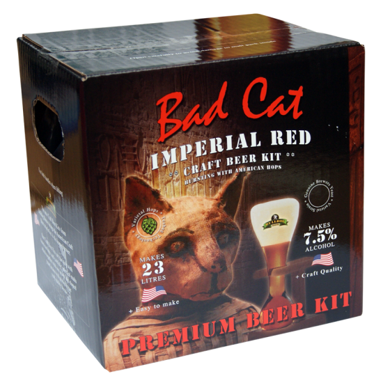 Bulldog Brews Bad Cat Imperial Red - 40 Pint - Premium Double Strength Beer Kit