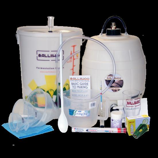 Balliihoo Complete Equipment Starter Set For Beer Kits - With Barrel & 8 Gram CO2 Injection System