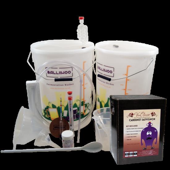 30 Bottle Wine Starter Set & Cabernet Sauvignon Ingredient Kit