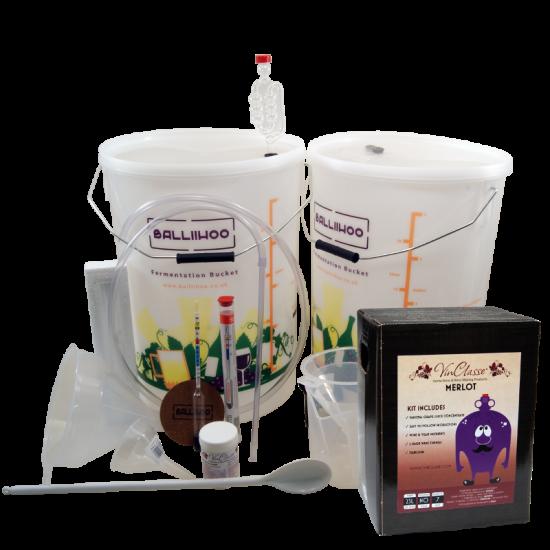 30 Bottle Wine Starter Set & Merlot Ingredient Kit