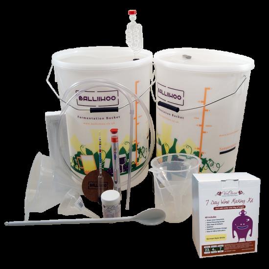 30 Bottle Starter Set & German Style White Wine (Sugar Required) Ingredient Kit
