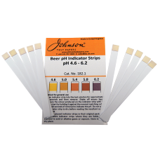 pH Test Strips 4.6-6.2 For Beer - Pack of 10