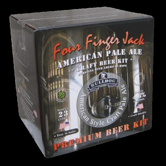 Bulldog Brews Four Finger Jack American Pale Ale - 40 Pint Premium Beer Kit