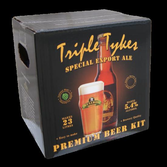Bulldog Brews Triple Tykes Special Export Ale - 40 Pint Premium Beer Kit