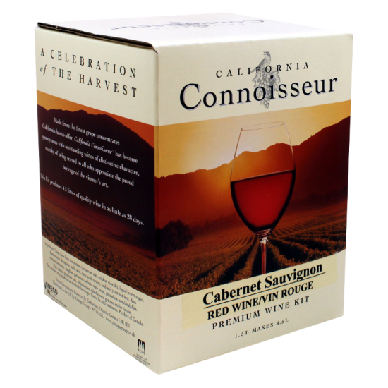 California Connoisseur - Cabernet Sauvignon - 6 Bottle Wine Kit