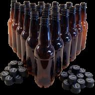 500ml PET Amber Beer Bottles- Coopers - Pack of 24