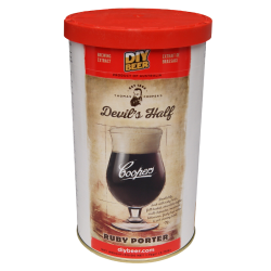 Coopers Devils Half Ruby Porter - 1.7kg - 40 Pint - Single Tin Beer Kit