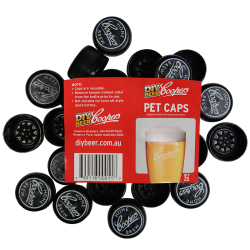 Spare Caps To Fit Coopers 500ml Amber PET Bottles - 25