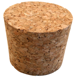 No. 1 Size Solid Cork Bung For Carboys & Fermenters