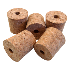 Pack of 5 Bored Cork Bungs To Fit 1 Gallon Demijohn