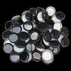 100 Black Crown Caps - 26mm - For Beer Bottles