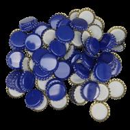 100 Blue Crown Caps - 26mm - For Beer Bottles